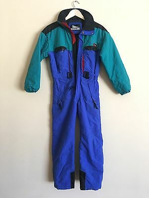 Ski Snowboarding Jumpsuit - Vintage EDGE Quality Snow Suit Child / Youth M