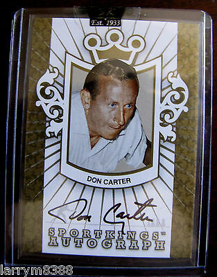 Rare Sportkings Don Carter Autograph Gold Edition