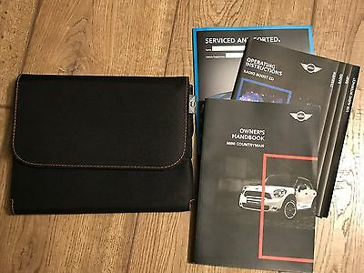Genuine Mini Countryman Owners Manual And Wallet Excellent Condition 2010-2016