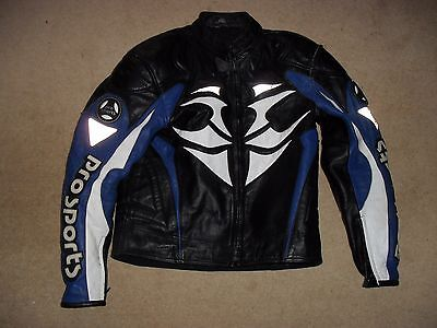 Hein Gericke   Pro Sport  Armour Leather  Motorcycle Jacket  Size  40""