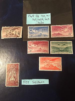 Selection Of Old Stamps From Ireland 1937 to 1948.