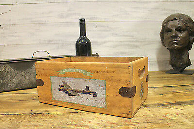 Lancaster Bomber Box Wooden Crate Vintage Aircraft Aviation Gift WW2 Plane