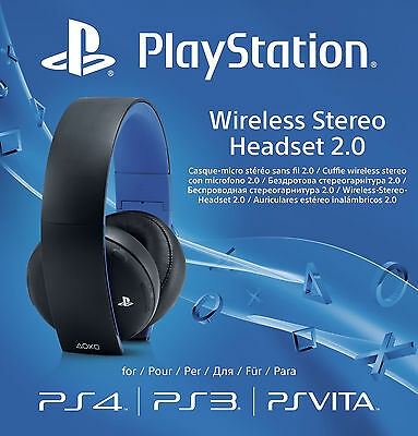 PS4 Official Sony PlayStation Wireless Stereo Headset 2.0 | Brand New | Free P&P