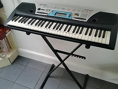 Yamaha Psr-170 Portable Electronic Keyboard With Adjustable Stand Ex Condition