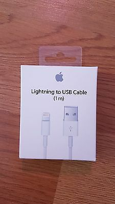 Lightning To Usb Cable Apple - 1 M - Iphone 5 /5C / 5S / 6 Chargeur Officiel