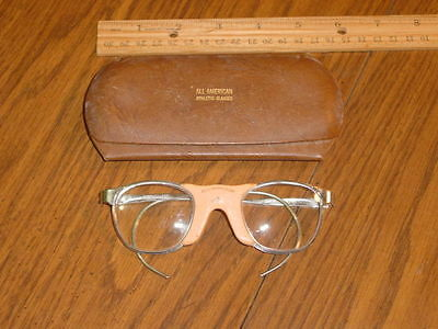 Vintage All American Athletic Sports Glasses With Original Case