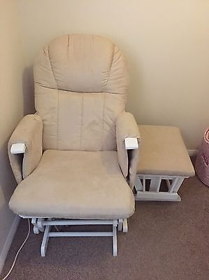 Mothercare Reclining Glider Chair With Stool
