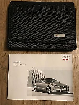 Genuine Audi A5 S5 Rs Owners Manual And Wallet Excellent Condition 2007-2012