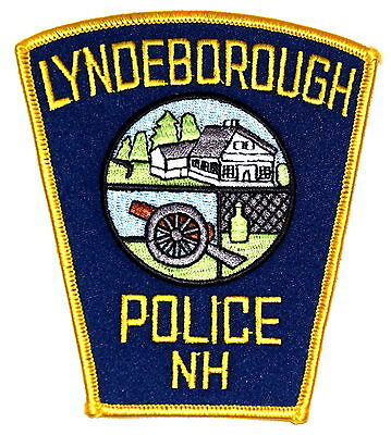 LYNDEBOROUGH NEW HAMPSHIRE NH Police Patch CANNON FARM BOTTLE ~