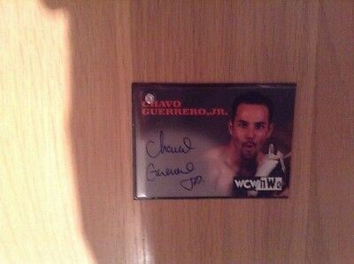 WCW/nWo Chavo Guerrero Signed Trading Card Rare