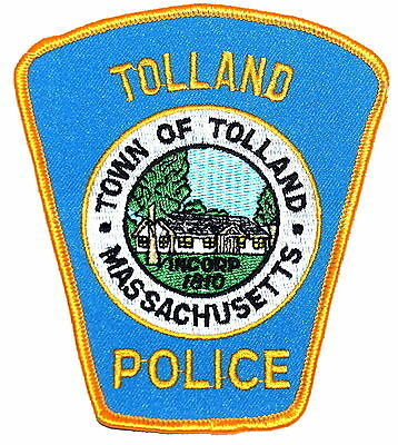TOLLAND MASSACHUSETTS MA Police Patch TOWN SEAL HOUSE HOME TREES ~