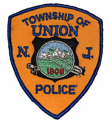 UNION TOWNSHIP NWP NEW JERSEY NJ Police Patch VINTAGE OLD MESH GOLD~
