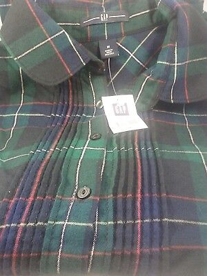 Gap Maternity Cotton Light Weight  Flannel Button Down Shirt Size Medium