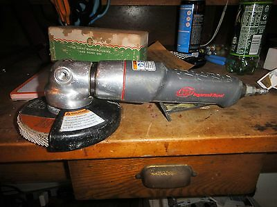 "Ingersoll-Rand 3445MAX 4-1/2"" Air Angle Grinder  works great LIGHTLY USED"