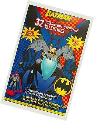 Batman 32 Punch-Out Stand-Up Valentine Cards, Includes Teachers Card