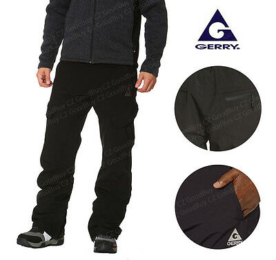 New GERRY Men 4 Way Stretch Fleece Lined Water Resistant Snow Pant Black