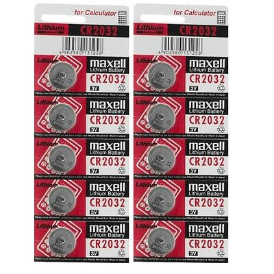 New Genuine 10 x Maxell Battery CR2032 Lithium 3V Button Cell Coin Batteries
