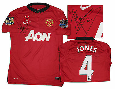 Phil Jones Signed Match Worn Shirt Manchester United