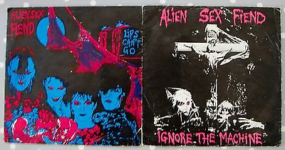 "ALIEN SEX FIEND 7"" vinyl job lot x 2 singles Goth Rock"
