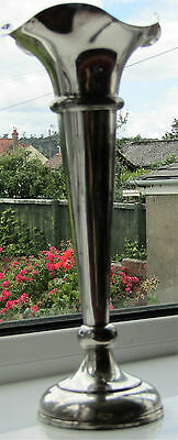 TALL HEAVY SHEFFIELD SILVER PLATED VASE-c1950s-WALKER & HALL