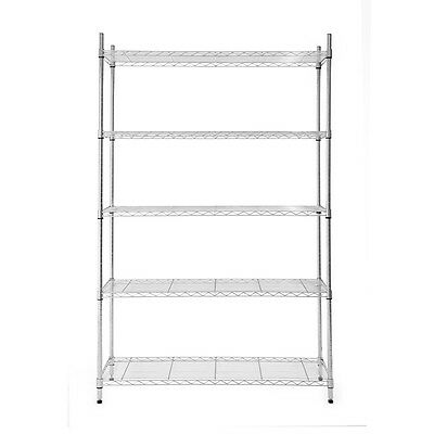 "Steel Freestanding Shelving Unit 72""H x 48""W x 18""D 5-Tier Storage Organize"