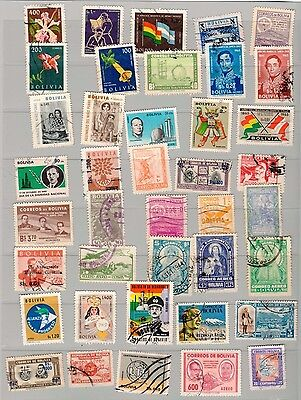 Lot 3 of 40 Bolivia Postage Stamps  Used/ Mint
