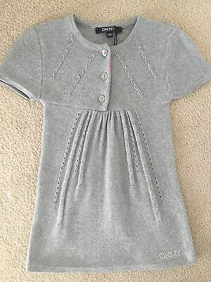 DKNY Beautiful Baby Girls 18 Months Silver Colour Dress New