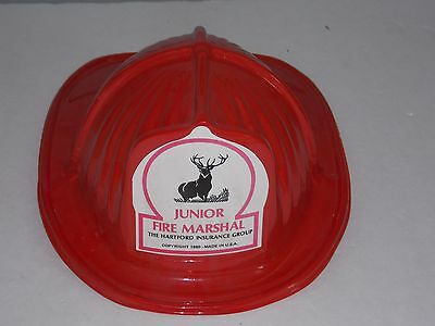 1980 Hartford Fire Insurance Company Junior Fire Marshall Hat