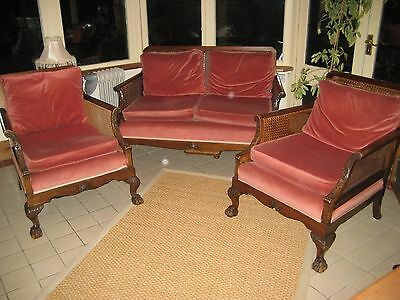 Bergere Suite, Settee and  2 matching chairs