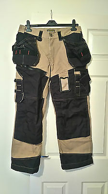 Mens Blaklader workwear combat trousers sand black size D92