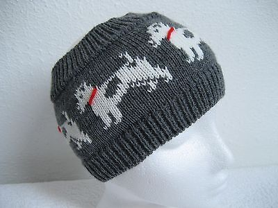 Jack Russell Terrier Dog Knitted Soft Grey Headband / Earwarmers Adult Size