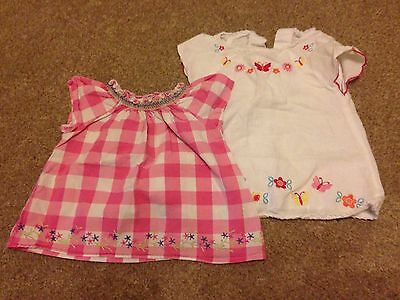 2 Baby Girl Tops Size 6-9 Months