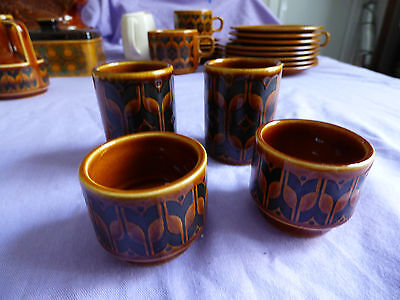 Hornsea pottery Heirloom  2 egg cups and a salt and pepper pot