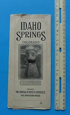 1920's Idaho Springs, Colorado Mines and Commerce Booklet,Large Mining Camp map