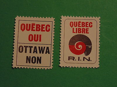 Scarce Pair Of Political Stamps (R.i.n. Circa 1968)