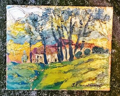 Belgium Expressionist LS, Early 20th C. Signed J. Brussellman