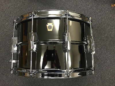 Ludwig 2017 8x14 Black Beauty Snare Drum Model #LB408BB WOW $848.00