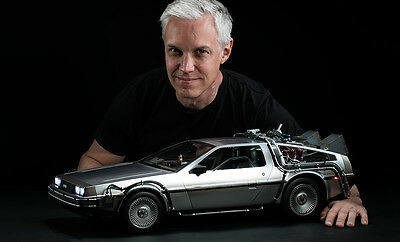 1/6 Scale Back to The Future Movie Masterpiece Vehicle - DeLorean Time Machine