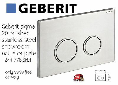 Geberit sigma 20 brushed stainless steel showroom actuator plate Only 99.99