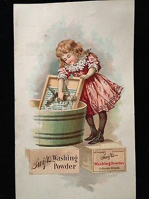 Early 1900's Vertical Swifts Washing Powder Postcard. EX. Cond.