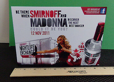 Madonna / Smirnoff Ad / Glossy Slick / Counter Top Standee Promo