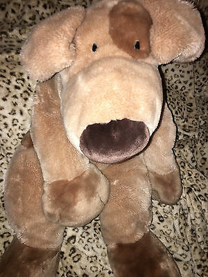 FAO Schwarz Jumbo HUGE  Fetch Plush Puppy Dog Brown Spots