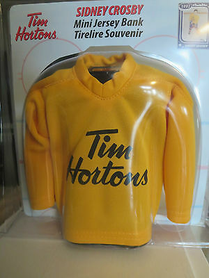 Tim Hortons  / SIDNEY CROSBY Mini Jersey Piggy Bank #8 Timbits