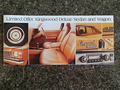1977 Holden Hx Kingswood Deluxe Sales Brochure.  100% Guarantee.