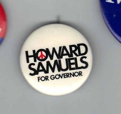 1970 New York Governor Primary Campaign Button Howard Samuels Peace In Vietnam
