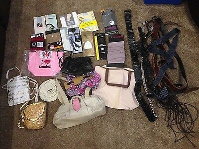 Bundle of Bags, Hosiery and Belts. New and used items