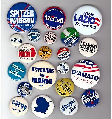 COLLECTION 21 NYC & NEW YORK STATE Political Buttons Pins Election LOCALS