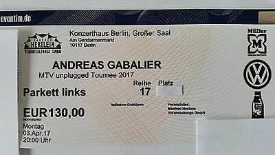 2 x Andreas Gabalier 03.04.2017 MTV unplugged - Berlin