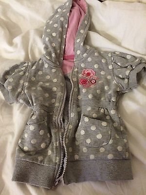 Baby Girl Hooded Jacket Size 9-12 Months