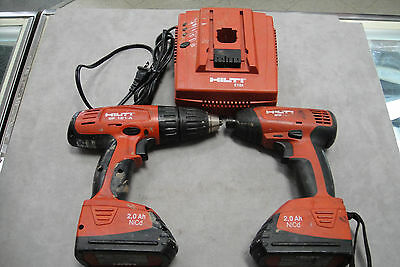Hilti Sf 121 A Drill Sid 121 A Driver And Batteries With Charger Bundle